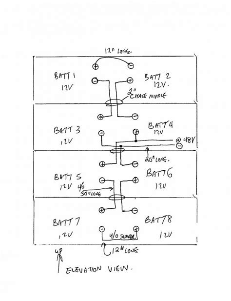 48 volt battery bank wiring how to connect 8 12v batteries
