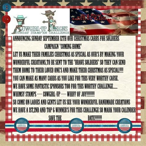 Where Can I Send Cards To Soldiers - lorraine s creations special challenge post card for