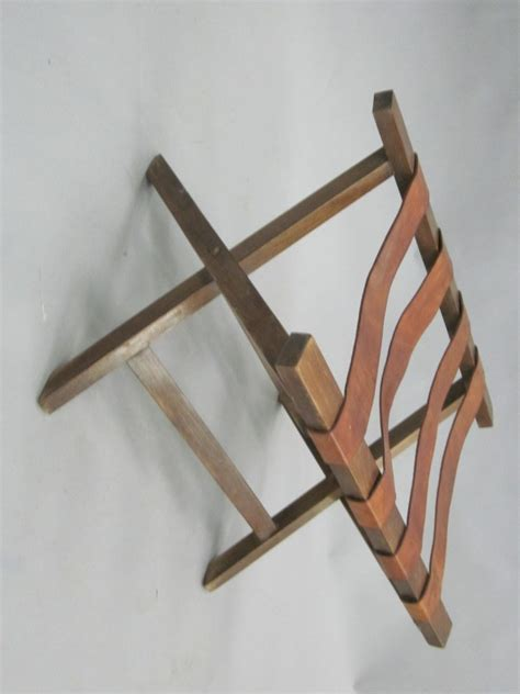 luggage bench french 40 s leather strap bench luggage rack at 1stdibs