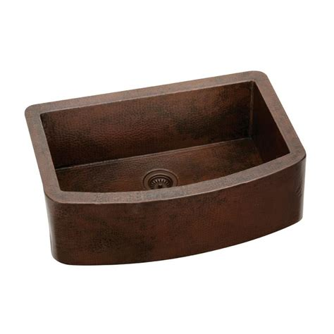 Undermount Single Bowl Kitchen Sink Elkay Harmony Undermount Copper 33 In Single Bowl Kitchen Sink Ecufs2915ach The Home Depot