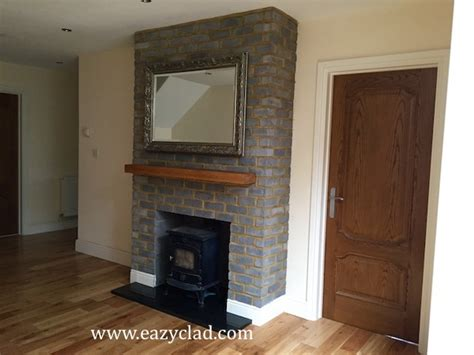 Brick Cladding For Fireplaces by Brick Slips For Covering Fireplaces Eazyclad Cladding