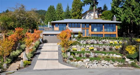 Garage Driveway Design boulder retaining wall landscape traditional with boulders