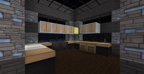 modern minecraft mansion kitchen by thefawksyartist on