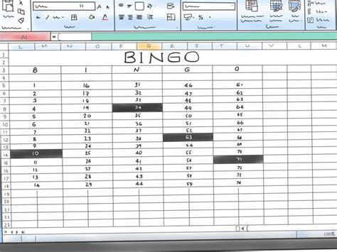 bingo card template excel how to make a bingo in microsoft office excel 2007 9