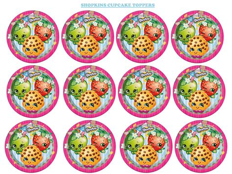 Purple Home Decorations by Girls Parties Shopkins Shopkins Cupcake Toppers