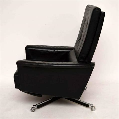 Swivel Reclining Armchair by Retro Leather Swivel Reclining Armchair Vintage 1960s At 1stdibs