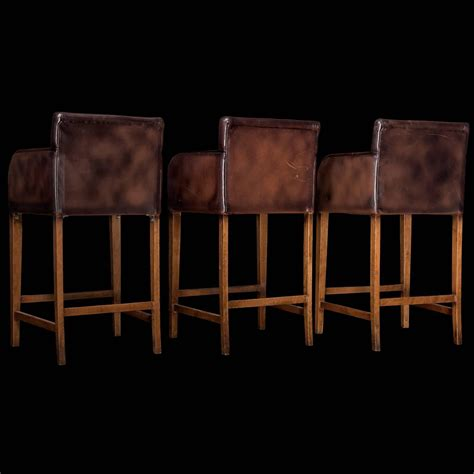 bar stools wood and leather leather wood bar stools at 1stdibs