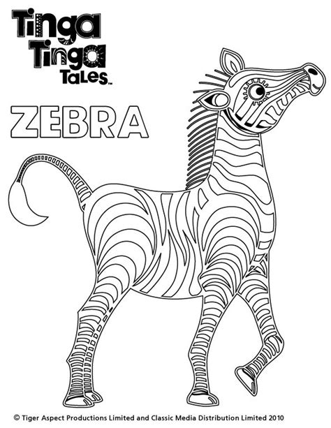 aardvark to zebra animals of africa coloring book books tinga tinga tales black and white picture of zebra