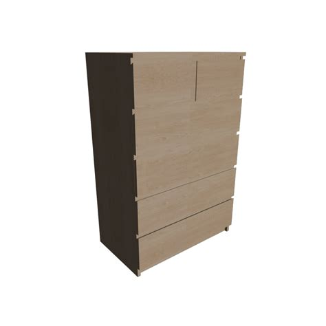 ikea malm shelf malm 6 drawer chest design and decorate your room in 3d