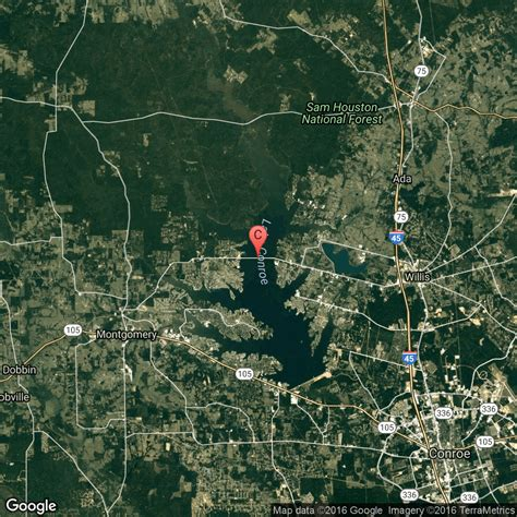 lake conroe texas map fishing areas on lake conroe texas usa today