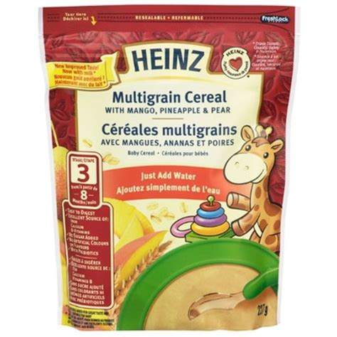 Termurah Heinz Baby Snack Porridge Cereal Multigrain Baby Foods Y New buy heinz baby multigrain cereal add water from canada at well ca free shipping
