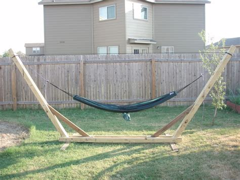 diy backyard hammock stand