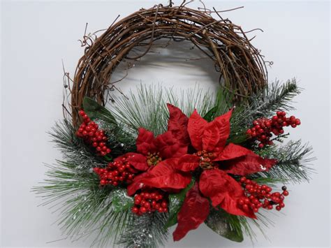 christmas grapevine wreath red poinsettia grapevine wreath