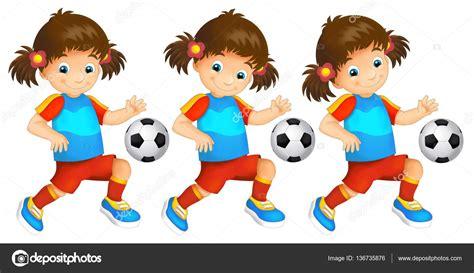 imagenes infantiles niños jugando futbol dibujos animados de ni 241 o ni 241 a jugar ilustraci 243 n f 250 tbol