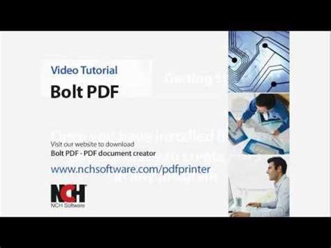 tutorial youtube pdf bolt pdf printing software pdf printer video tutorial