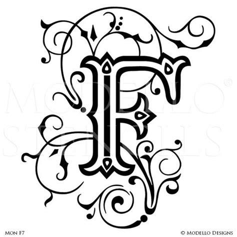 Monogram Stencils Modello 174 Designs Monogram Letters Template