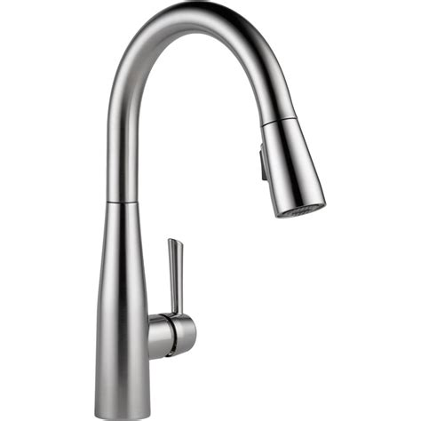 Delta Faucet 9113 AR DST Essa Arctic Stainless Pullout Spray Kitchen Faucets   eFaucets.com