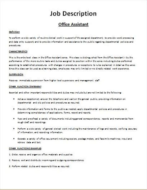 template for description form description form sle at http www