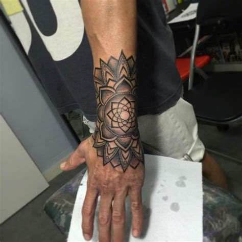 man wrist tattoos mandala wrist designs ideas and meaning tattoos