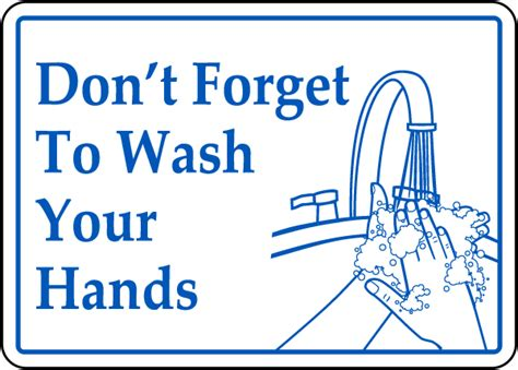 bathroom signs wash your hands don t forget wash hands sign by safetysign com d5812