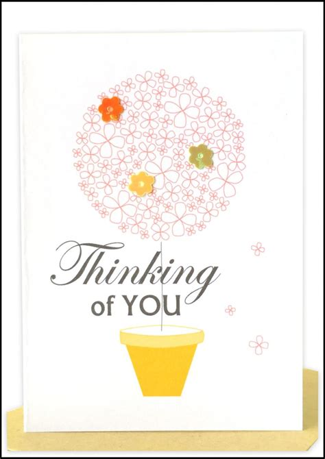 Thinking Of You Gift Card - wholesale sympathy cards lils wholesale handmade cards sydney