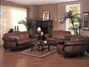 leather decor living room decorating ideas with brown leather furniture