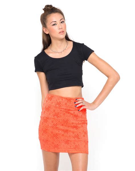 Dress Shanshan Square Vd buy motel becka zip bodycon skirt in neon orange lace at motel rocks motel rocks
