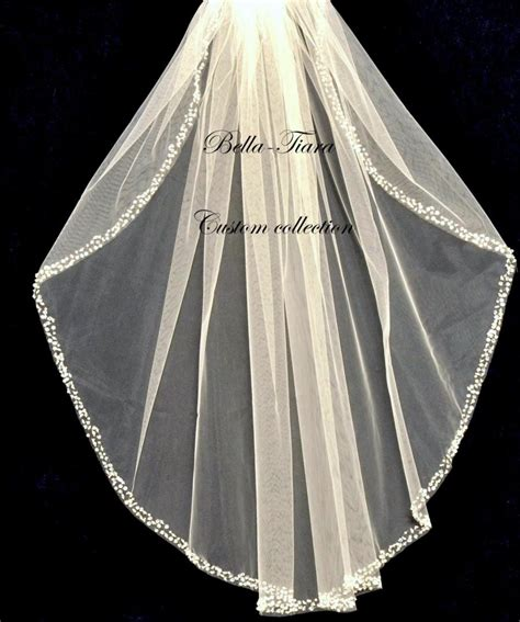 beaded cathedral veil cathedral wedding veil beaded edge