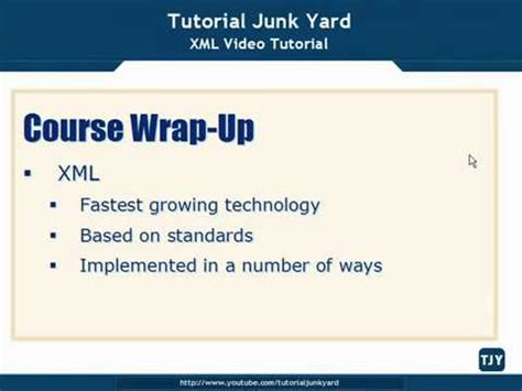 tutorial about xml xml tutorial 75 xml course wrap up youtube