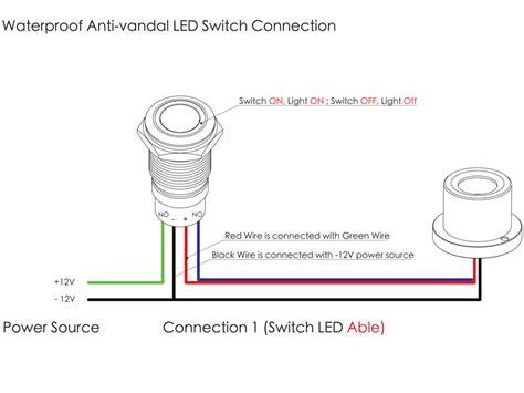 anti vandal switch wiring diagram led