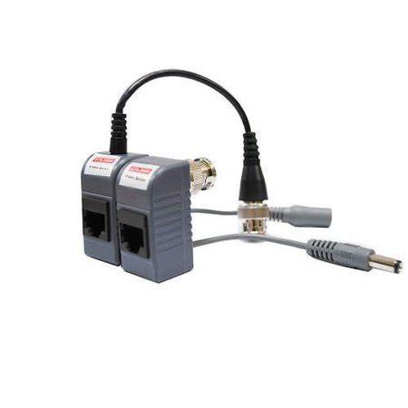 10 pairs (20 pcs) cctv video power balun bnc to cat5 cat6