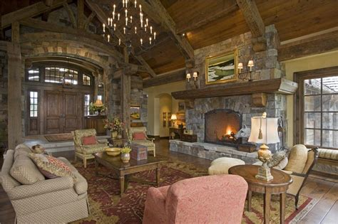 rustic great room open country rustic living family room by jerry locati