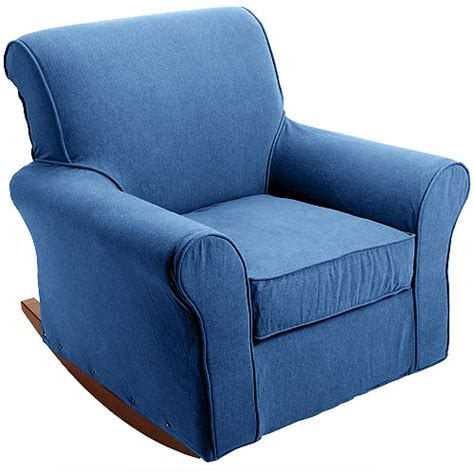 dorel rocking chair slipcover dorel nursery rocker slipcover denim walmart com