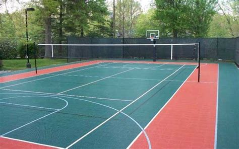 Backyard Tennis Court Dimensions Basketball And Tennis Court Picture Have Your Say Guelph
