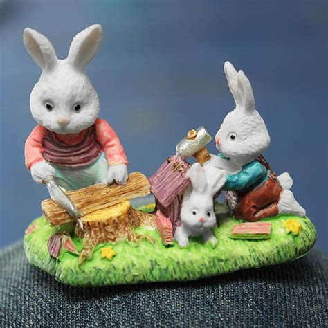 Garden Rabbits Decor Rabbit Family Micro Landscape Decorations Garden Diy Decor Alex Nld