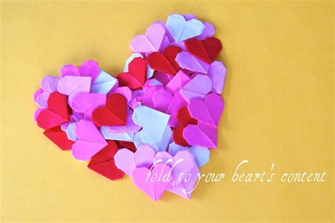 How To Make Small Origami Hearts - origami garland tutorial oh my handmade