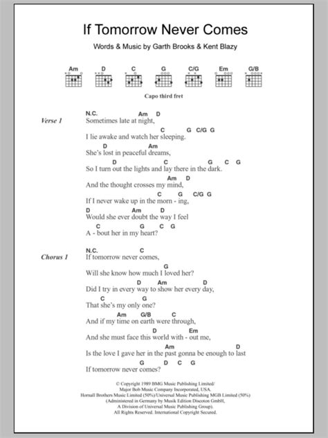 If Tomorrow Never Comes Guitar Chords