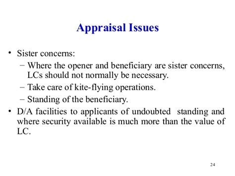 Appraisal Letter Meaning In Letter Of Credit