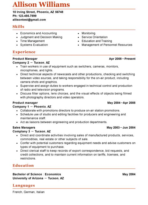 exle of a functional resume sle functional sle