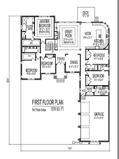 4 Bedroom Floor Plans One Story by Single Story House Design Tuscan House Floor Plans 4 And 5