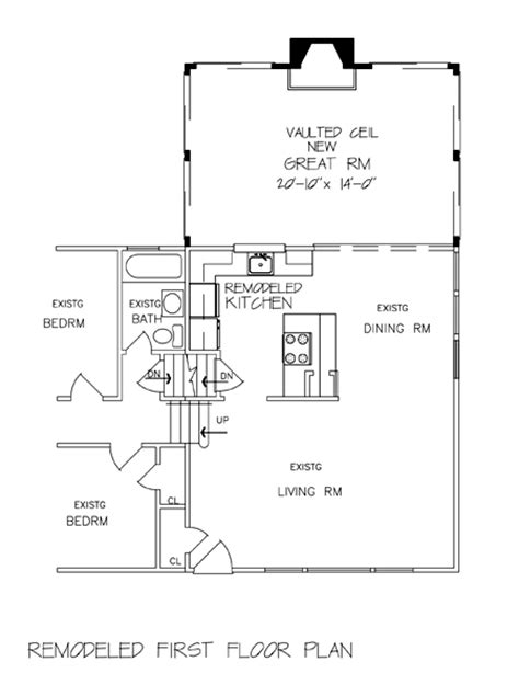 Great Room Plans Great New Great Room F0006 6240 The House Designers