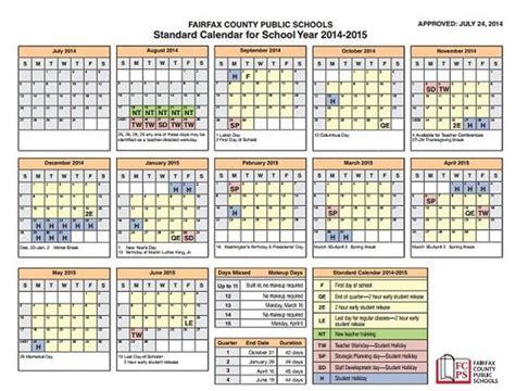 Fairfax County School Calendar Fairfax County School Calendar 2017 My