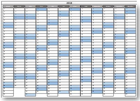 Calendrier 2018 Pdf Calendrier 2018 Excel Modifiable Et Gratuit Excel Malin