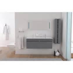 meuble salle de bain 120 cm simple vasque alban salle de bain vasque 120 cm gris achat