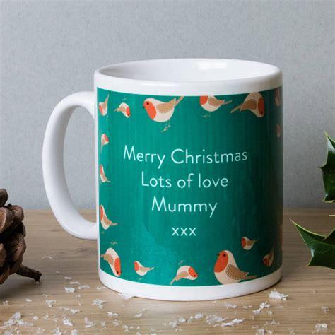 personalised christmas mugs  designs   labels notonthehighstreetcom
