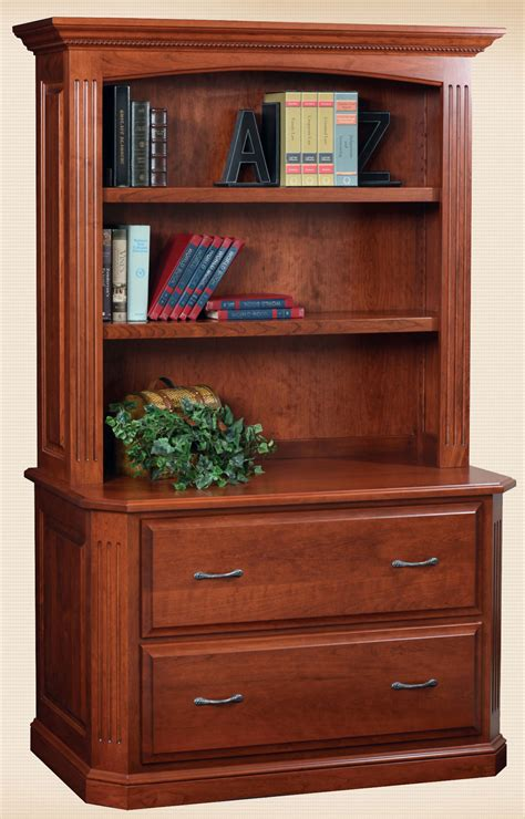 lateral file cabinet with hutch oakwood furniture amish furniture in daytona