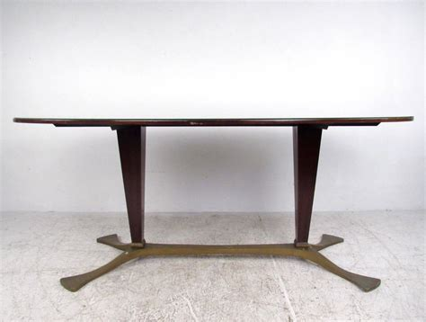 Italian Glass Dining Table Italian Glass Top Dining Table 1950s For Sale At 1stdibs