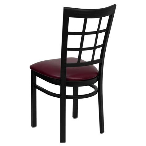 Black Restaurant Chairs by Hercules Black Window Back Metal Restaurant Chair With