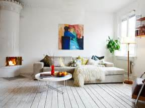living room with wooden floor white color paint wall