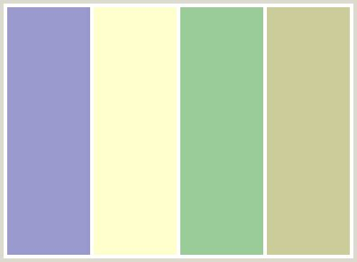 colorcombo73 with hex colors 9999cc ffffcc 99cc99 cccc99